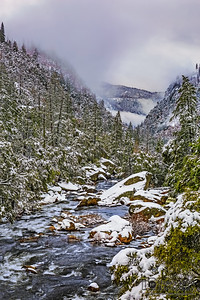 """River Dream,"" Cascading waters of the Merced River in the Winter, Yosemite National Park, California"