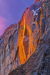 """""""Illusions of Grandeur,"""" Yosemite Firefall 2019, Horsetail Falls, Yosemite National Park, California"""