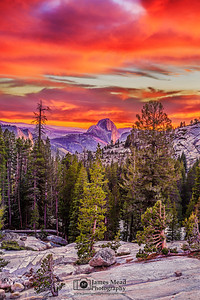 """Artist's Canvas,"" Sunset over Half Dome, Yosemite National Park"