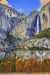 """Muir's Memories,"" Autumn at Yosemite Falls,"" Yosemite Valley, Yosemite National Park, California"