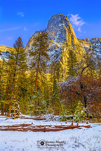 """Nature's Gift,"" Sentinel Rock at Sunset, Yosemite Valley, Yosemite National Park, California"