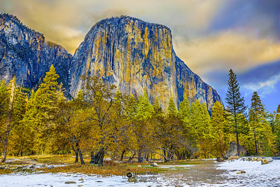"""Golden Capitan,"" Golden Hour Sunset over El Capitan, Yosemite Valley, Yosemite National Park"