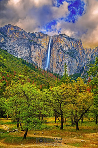 """Ribbon of the Valley,"" Ribbon Falls Sunset, Yosemite Valley, Yosemite National Park"