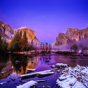 """The Valley of Eden,"" Alpenglow in Yosemite Valley, Yosemite Valley, Yosemite National Park, California"
