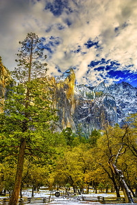 """Leaning Tower of Granite,"" Golden Hour over the Leaning Tower, Yosemite Valley, Yosemite National Park"