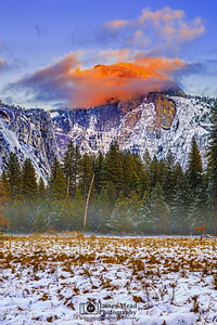 """Fire Dome,"" Half Dome Sunset, Yosemite Valley, Yosemite National Park, California"