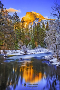 """The Golden Dome,"" Half Dome Sunset, Yosemite Valley, Yosemite National Park"