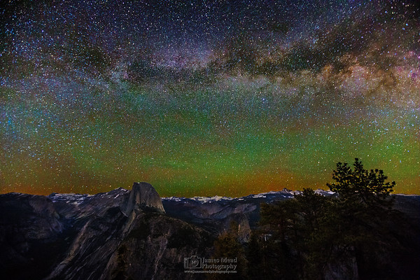 """Twinkle Twinkle,"" Half Dome Milky Way, Yosemite National Park, California"