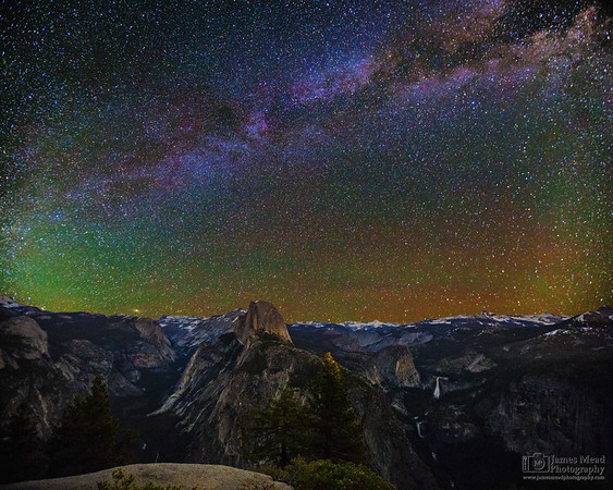 """""""Granite Playground,"""" The Milky Way over Half Dome, Cloud's Rest, Nevada Falls and Vernal Falls, Yosemite National Park"""