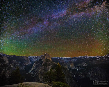 """Granite Playground,"" The Milky Way over Half Dome, Cloud's Rest, Nevada Falls and Vernal Falls, Yosemite National Park"