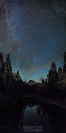 Winter Reflections: Milky Way over Half Dome, Yosemite National Park