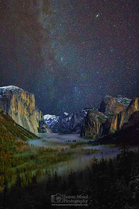 """Cathedral of Fog and Stars,"" Yosemite Valley, Yosemite National Park"