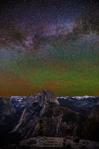 """Cloud Nine,"" The Milky Way over Cloud's Rest, Half Dome, Quarter Domes, Basket Dome, Mount Watkins, Tenaya Peak, Ahwiyah Point, Tressider Peak, and Tenaya Canyon, Yosemite National Park"