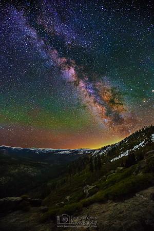 """Harmony's Ridge,"" The Milky Way over Illilouette Ridge and Illilouette Basin, Yosemite National Park, California"