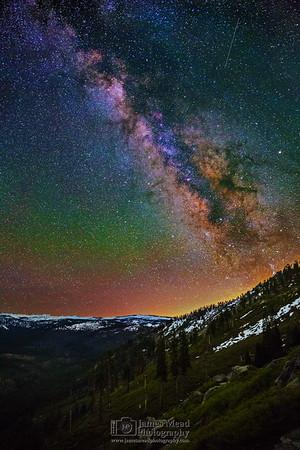 """Magnetic Imagination,"" Illilouette Ridge and Illilouette Basin Milky Way, Yosemite National Park, California"