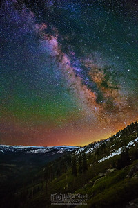 """Magnetic Imagination,"" Illilouette Ridge and Illilouette Basin Milky Way, Yosemite National Park, California"