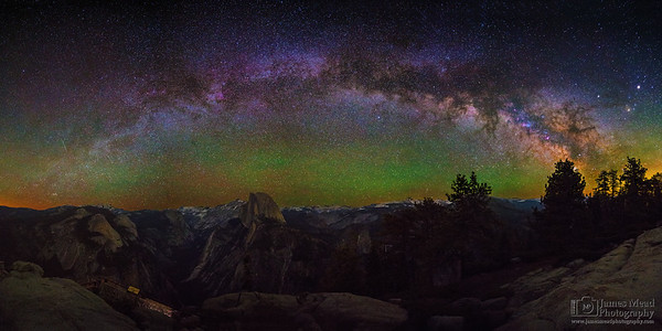 """""""Wonderment,"""" The Milky Way Arch over Half Dome and the Yosemite High Country, Yosemite National Park"""