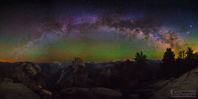 """Wonderment,"" The Milky Way Arch over Half Dome and the Yosemite High Country, Yosemite National Park"
