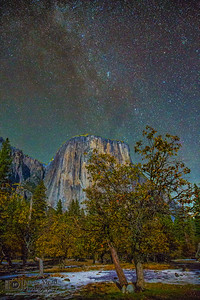 """The Granite Cathedral at Night,"" El Capitan, Yosemite Valley, Yosemite National Park, California"