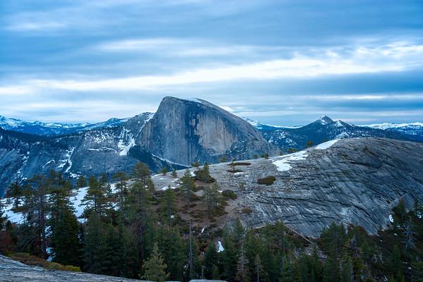 Half Dome and North Dome dawn - Yosemite