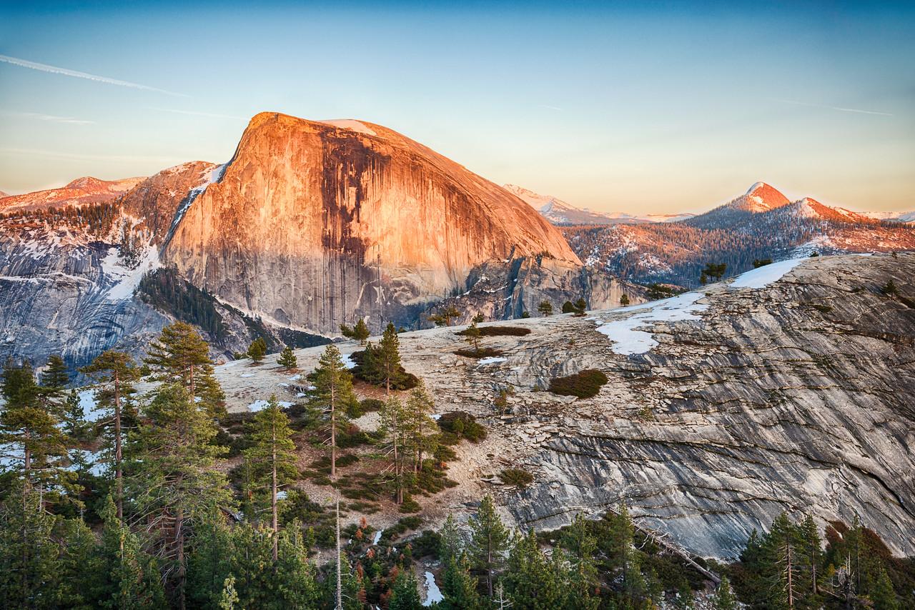 Half Dome and North Dome Sunset - Yosemite-7