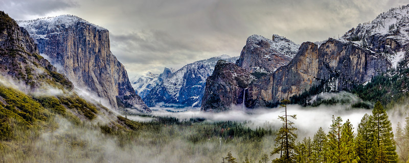 """Yosemite Valley Panorama"""