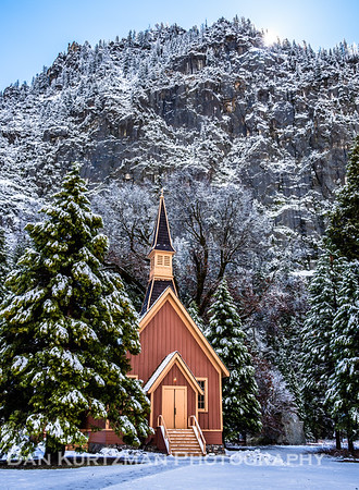 Yosemite Valley Chapel in Winter