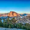 Half Dome and North Dome Sunset - Yosemite-4