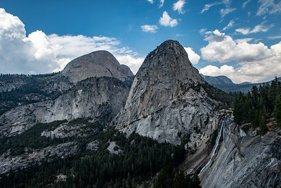 Half Dome, Liberty Cap, and Nevada Falls