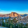 Half Dome and North Dome Sunset - Yosemite-3