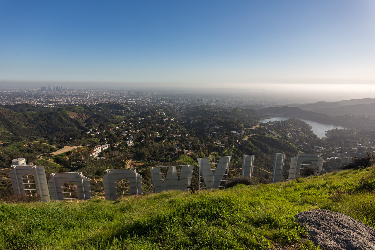 Nice view from behind the Hollywood sign