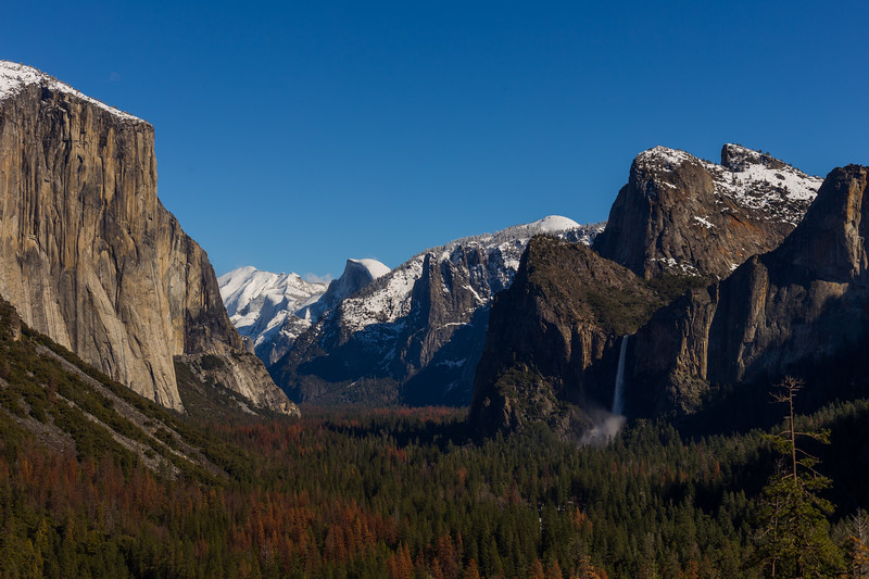 Scenes from Tunnel View in Yosemite