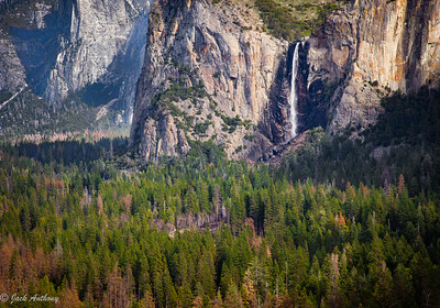 Bridal Vail Falls from Tunnel View Overlook