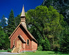 """Yosemite Chapel in Spring"""