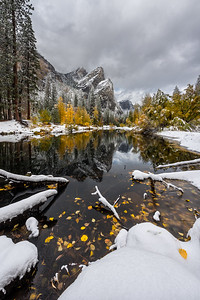3 Brothers fall and winter mix, Yosemite National Park