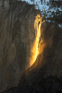 Firefall abstract, Yosemite National Park