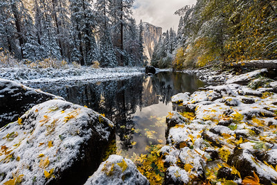 Fall and winter collide in Yosemite National Park