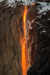 Firefall close up, Yosemite National Park