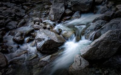 """Nano-falls"" at Lower Yosemite"