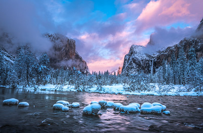 Yosemite Winter Symphony 3: Yosemite National Park Valley View Breaking Winter Storm Fine Art Landscape Nature Photography