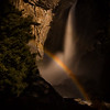 Moonbow on lower Yosemite Falls