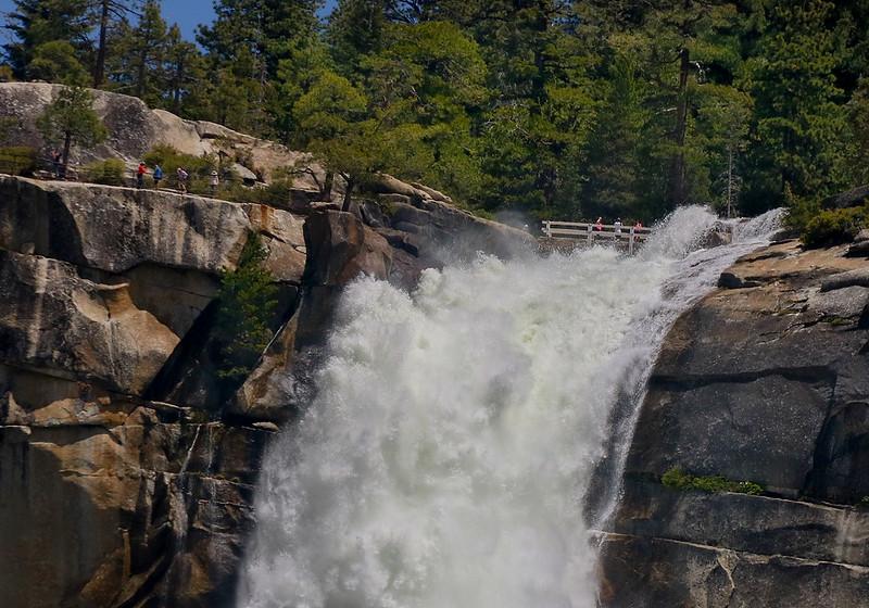 Telephoto closeup of Nevada Falls.