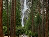 Yosemite falls, Upper and Lower. Combined they fall 2, 425 feet.