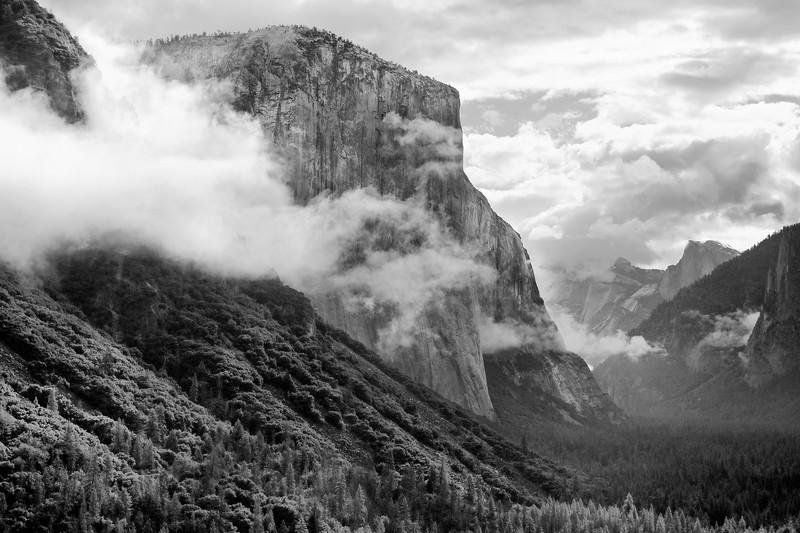 Gray scale treatment of El Capitan.