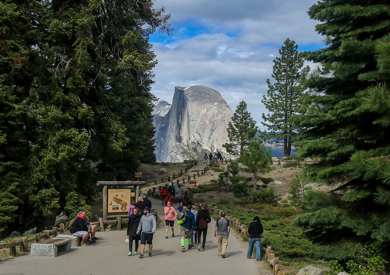 Day time at Glacier Point.