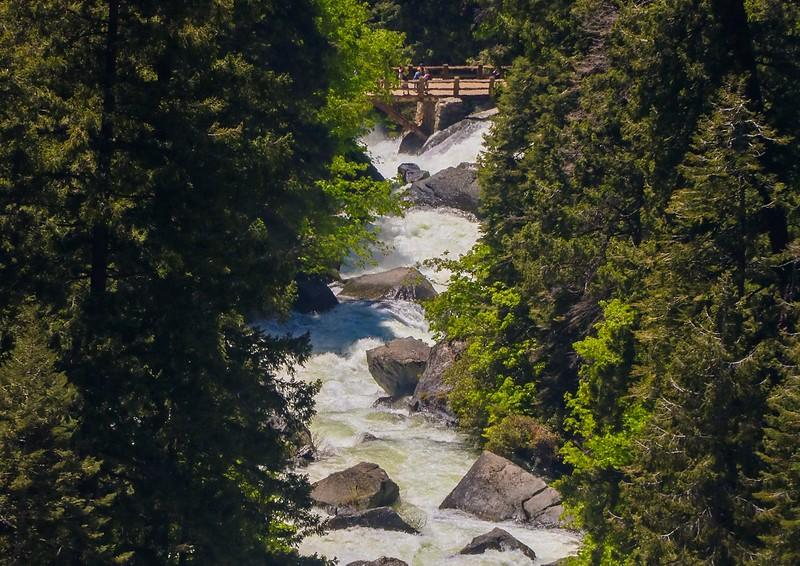 Mist Trail Bridge to Vernal Falls.