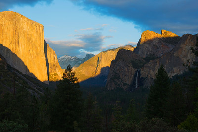 Tunnel View at Sunset in February