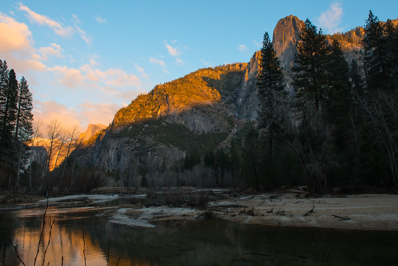 View from Merced River at Leidig Meadow.
