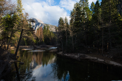 Half Dome Reflection from Merced River Yosemite