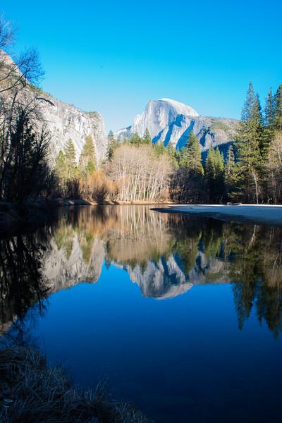 Half Dome, Yosemite on a Blue Sky Day